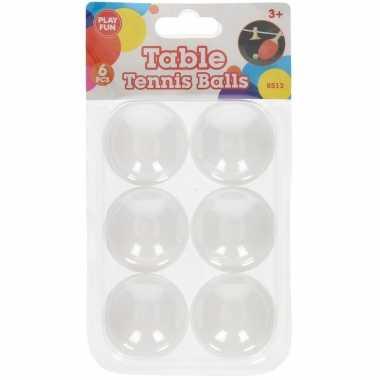 Groothandel 6x stuks speelgoed ping pong balletjes 40 mm/4 cm kopen