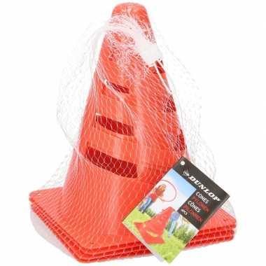 Groothandel 8x oranje pionnen 20 cm hoog speelgoed kopen