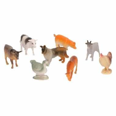 Groothandel 8x plastic boerderijdieren figuren speelgoed kopen