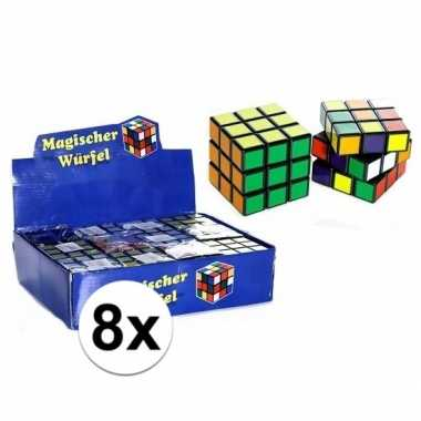 Groothandel 8x uitdeel speelgoed puzzel kubussen 7 cm kopen