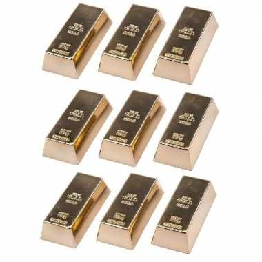 Groothandel 9 stuks magneetjes goudstaaf 6 cm speelgoed kopen