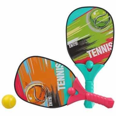 Groothandel actief speelgoed tennis/beachball/pickleball setje met print kopen