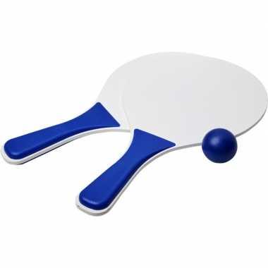 Groothandel actief speelgoed tennis/beachball setje blauw/wit kopen