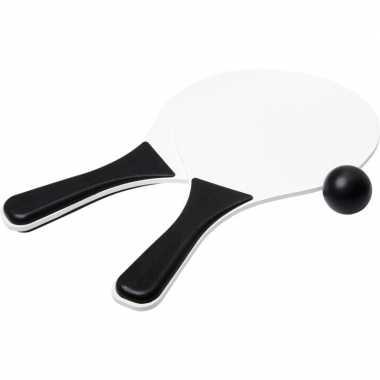 Groothandel actief speelgoed tennis/beachball setje zwart/wit kopen