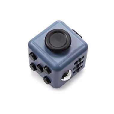 Groothandel anti stress speelgoed fidget cube grijs/zwart kopen