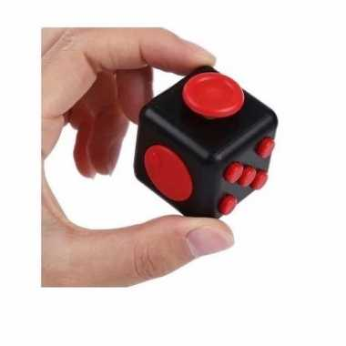Groothandel anti stress speelgoed fidget cube zwart rood