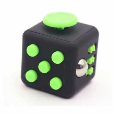 Groothandel anti stress speelgoed kubus zwart lime groen kopen
