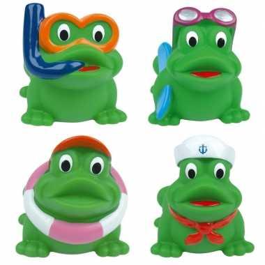 Groothandel badspeelgoed kikkers 4 stuks in tasje kopen