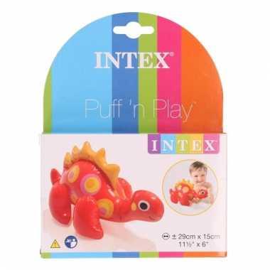 Groothandel badspeeltje opblaas rode dino 29 cm speelgoed
