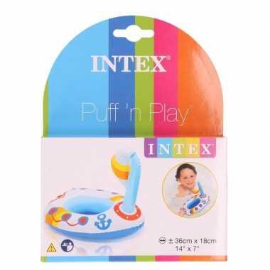 Groothandel badspeeltje opblaas zeilbootje 20 cm speelgoed