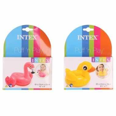 Groothandel badspeeltjes opblaasbaar eendje en flamingo speelgoed kop