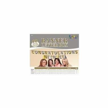 Groothandel banner letter box goud/zilver speelgoed kopen