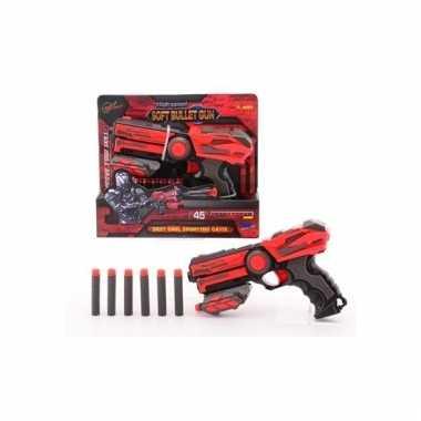 Groothandel basic speelgoed pistool met foam kogels 23 cm kopen