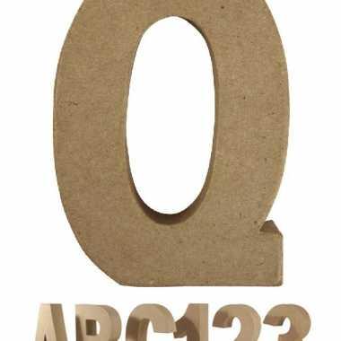 Groothandel beschilderbare letter q van papier mache speelgoed kopen