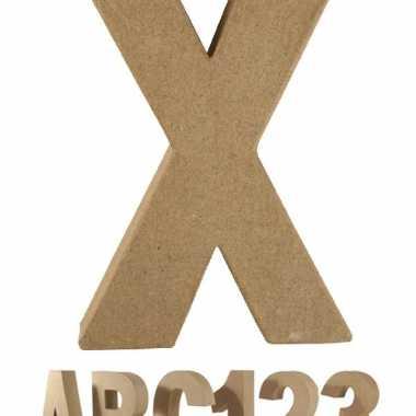 Groothandel beschilderbare letter x van papier mache speelgoed kopen