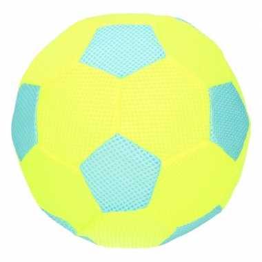 Groothandel blauw met lime groene mesh speelgoed bal voor kinderen 23