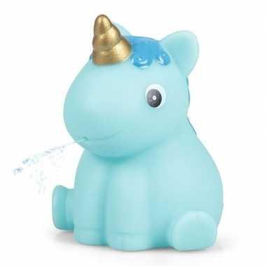 Groothandel blauwe eenhoorn voor in bad 6,5 cm speelgoed kopen