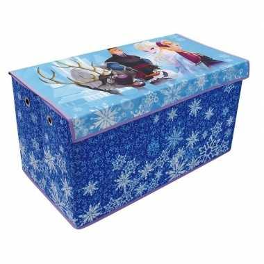 Groothandel blauwe elsa en anna speelgoed opbergbox 76 cm kopen