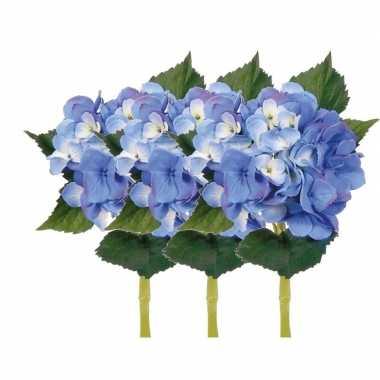 Groothandel blauwe hortensia met steel 48 cm speelgoed kopen