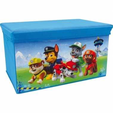 Groothandel blauwe paw patrol speelgoed opbergbox/bank 55 cm kopen