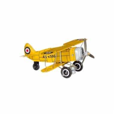 Groothandel blikken speelgoed vliegtuigje 20 cm kopen