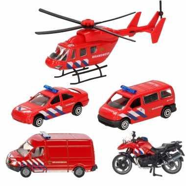 Groothandel brandweer wagens uitgebreide speelgoed set 5-delig die-cast kopen
