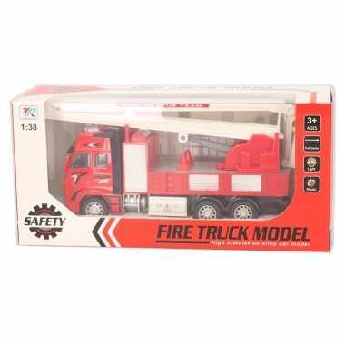 Groothandel brandweerauto speelgoed voertuig met licht en geluid 1:38
