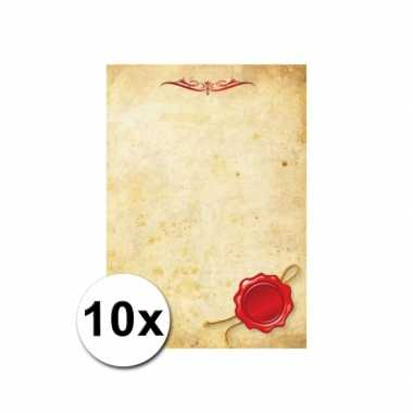 Groothandel briefpapier a4 perkament stijl 10 stuks speelgoed kopen