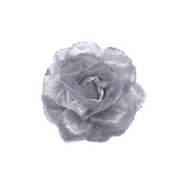 Groothandel broche met zilveren glitter bloem speelgoed