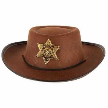 Groothandel bruine cowboy hoed voor kinderen speelgoed