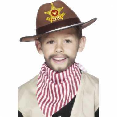 Groothandel bruine sherrif hoed voor kinderen speelgoed