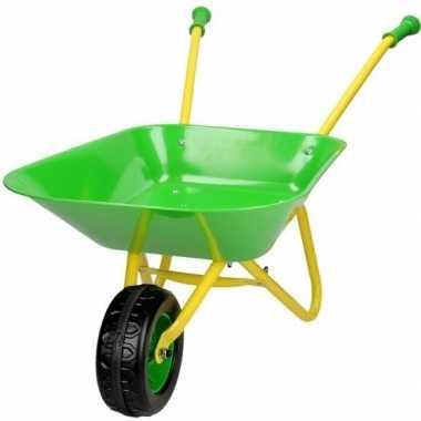 Groothandel buitenspeelgoed groene metalen kruiwagens voor kinderen k