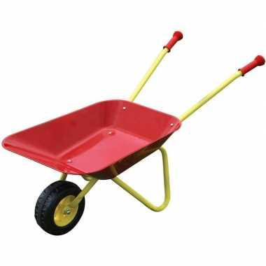 Groothandel buitenspeelgoed rode metalen kruiwagens voor kinderen kop