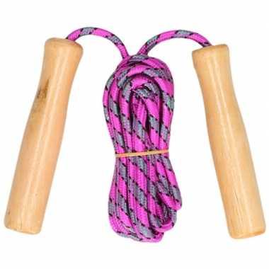Groothandel buitenspeelgoed roze springtouw 236 cm kopen