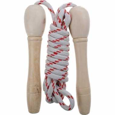 Groothandel buitenspeelgoed wit rood springtouw 210 cm kopen