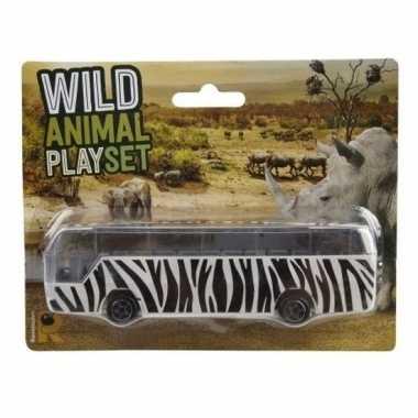 Groothandel bussafari speelgoed auto zebra print kopen