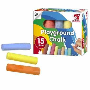 Groothandel clown stoepkrijt 15 stuks speelgoed