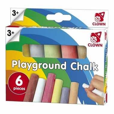 Groothandel clown stoepkrijt 6 stuks speelgoed kopen