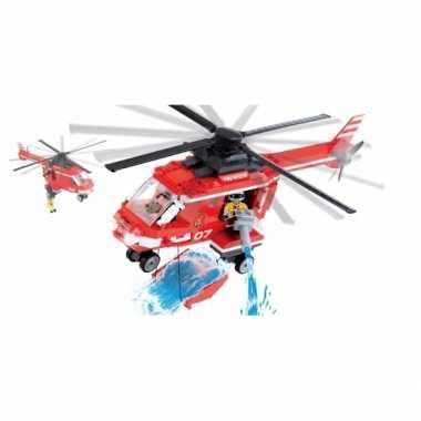 Groothandel cobi brandweerhelikopter bouwstenen pakket speelgoed