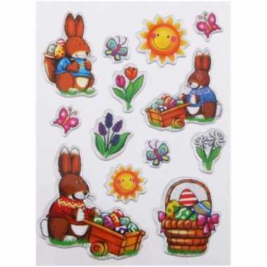 Groothandel decoratie stickers pasen 13 stuks speelgoed kopen