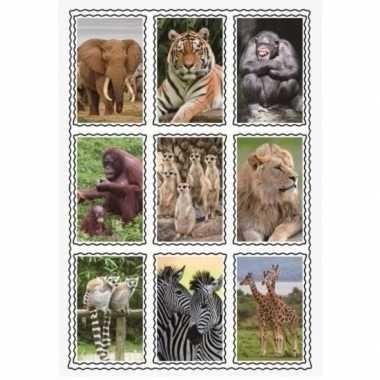 Groothandel dierentuin dieren stickerset speelgoed kopen