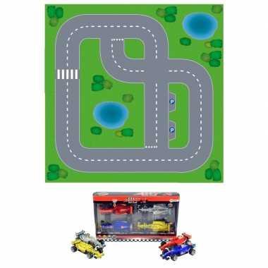 Groothandel dorpje diy speelgoed stratenplan/ kartonnen speelkleed +