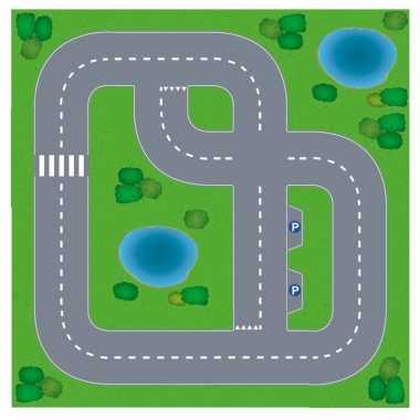 Groothandel dorpje diy speelgoed stratenplan/ kartonnen speelkleed ko
