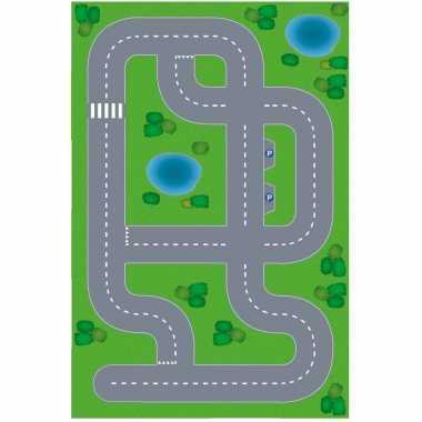 Groothandel dorpje xl diy speelgoed stratenplan/ kartonnen speelkleed