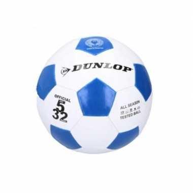 Groothandel dunlop junior voetbal maat 5 blauw / wit speelgoed kopen