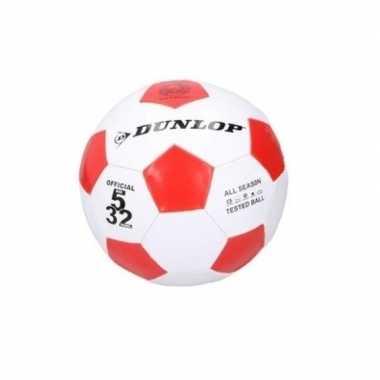 Groothandel dunlop junior voetbal maat 5 rood / wit speelgoed kopen