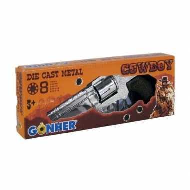 Groothandel feest/verkleed cowboy plaf/klap revolver/pistool 9 schots
