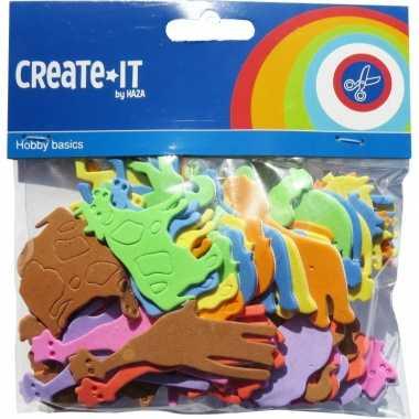 Groothandel foam diertjes knutsel materiaal 64 stuks speelgoed