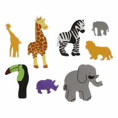 Groothandel foam safari diertjes knutsel materiaal 32 stuks speelgoed