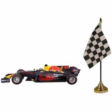 Groothandel formule 1 speelgoedwagen max verstappen 1 43 met finish tafel vlaggetje
